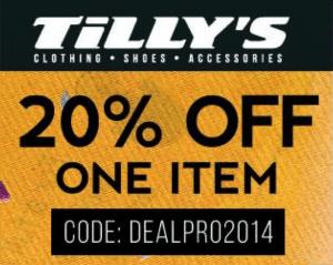 Tillys Promo Code 2014 – Get 20% Discount