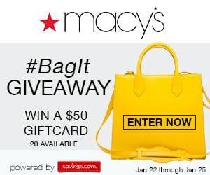 Macy's Designer Handbags & #BagIt GC Giveaway